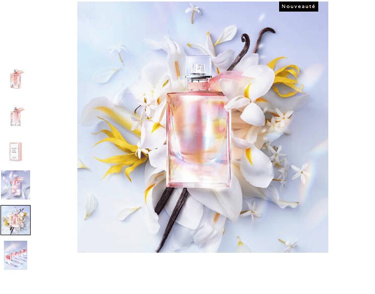 Echantillon gratuit du parfum La vie est belle Soleil Cristal de Lancôme sur lancome.fr