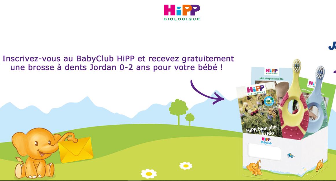Coffret gratuit BabyClub HiPP Biologique à recevoir sur hipp.fr