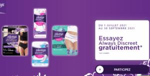 Produits Always Discreet 100% remboursés sur alwaysdiscreetrembourse.fr